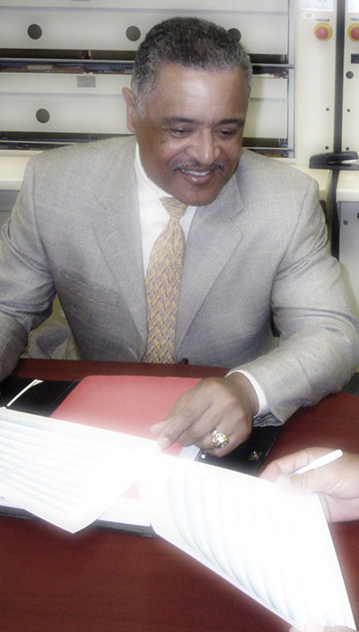 HRC Consulting's Managing Partner, Pierre Towns, helps a client navigate employee assessments process